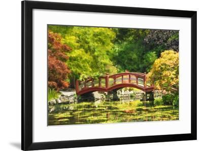 Serenity Bridge II-Romona Murdock-Framed Art Print