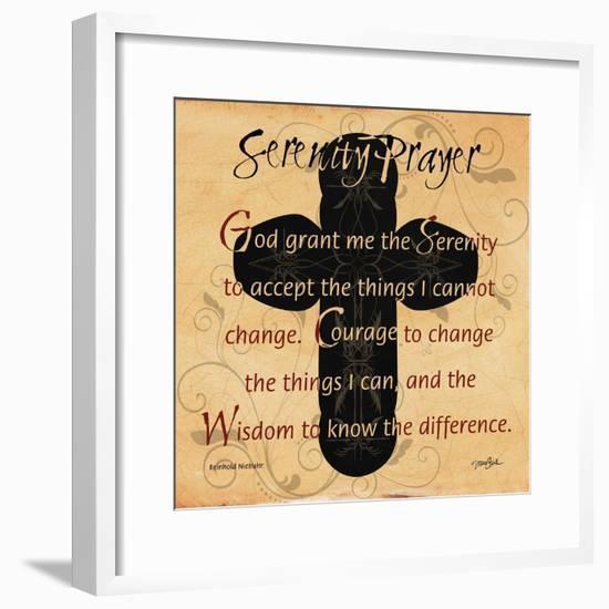 Serenity Prayer Cross-Diane Stimson-Framed Art Print