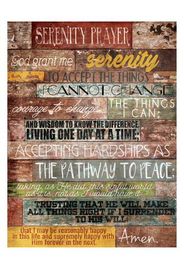 Serenity Prayer-Jace Grey-Art Print