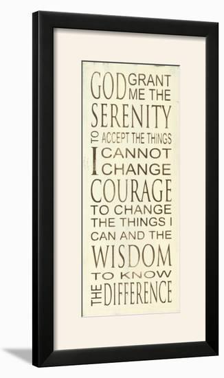 Serenity Prayer-Holly Stadler-Framed Photographic Print