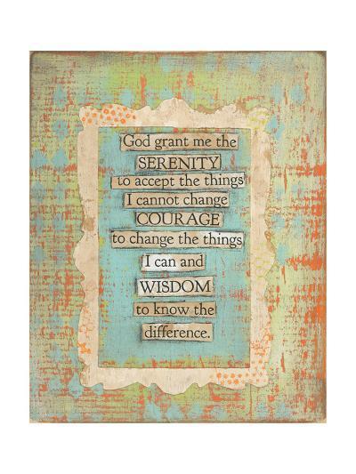 Serenity Prayer-Cassandra Cushman-Art Print