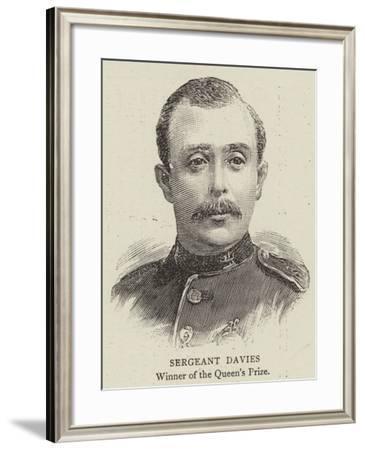 Sergeant Davies--Framed Giclee Print