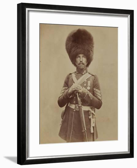 Sergeant William Powell, Grenadier Guards- Joseph Cundall and Robert Howlett-Framed Photographic Print