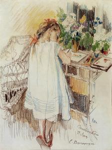 A Little One, 1910 by Sergei Arsenyevich Vinogradov
