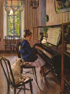 At the Piano by Sergei Arsenyevich Vinogradov