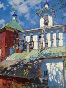 Bell Tower of the Pskovo-Pechersky Monastery by Sergei Arsenyevich Vinogradov