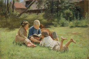 Children, 1890s by Sergei Arsenyevich Vinogradov