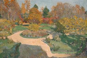 Garden in Autumn by Sergei Arsenyevich Vinogradov