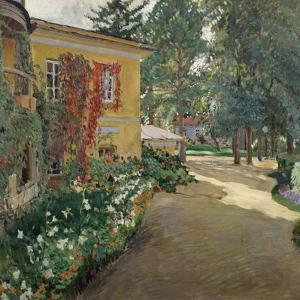 In a Country Estate, 1910 by Sergei Arsenyevich Vinogradov