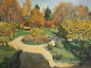 The Garden in Autumn, 1910 by Sergei Arsenyevich Vinogradov