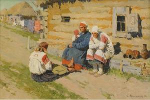 Waiting in the Sun, 1894 by Sergei Arsenyevich Vinogradov
