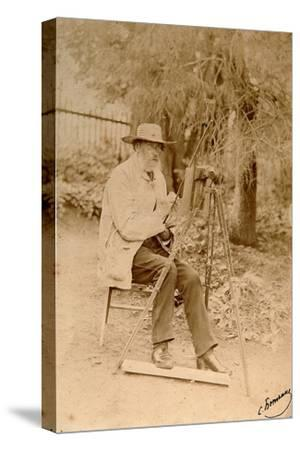 Yakov Polonsky, Russian Poet, Working at an Easel, C1890