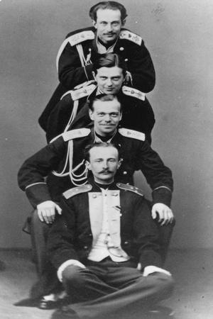 Grand Dukes Alexander Alexandrovich and Vladimir Alexandrovich of Russia, C1870-C1875