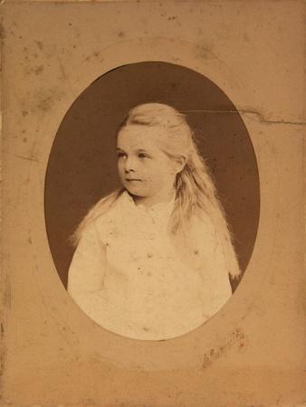 Portrait of Princess Olga Alexandrovna Yurievskaya (1873-192), End of 1870S-Early 1880S
