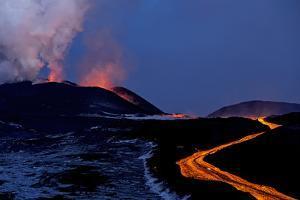 Lava Flow from Plosky Tolbachik Volcano Eruption, Kamchatka Peninsula, Russia, 5 December 2012 by Sergey Gorshkov