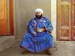 Mohammed Alim Khan, the Last Emir of Bukhara, 1911 by Sergey Mikhaylovich Prokudin-Gorsky