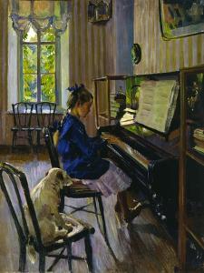 At the Piano, 1914 by Sergey Vinogradov