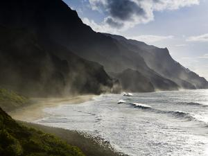 The Fluted Ridges of the Na Pali Coast on the North Shore of Kauai, Hawaii No.2 by Sergio Ballivian