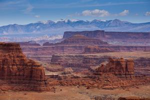 The Rugged Canyons of Canyonlands National Park Seen from the White Rim Trail Near Moab, Utah by Sergio Ballivian