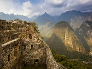 View of Machu Picchu - the Lost City of the Incas - Located in T by Sergio Ballivian