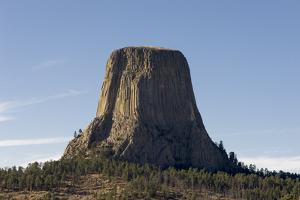 A Scenic View of the Devil's Tower in Warm Sunlight by Sergio Pitamitz