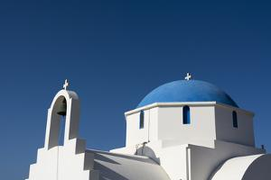 A Small Blue and White Chapel on Antiparos Island by Sergio Pitamitz