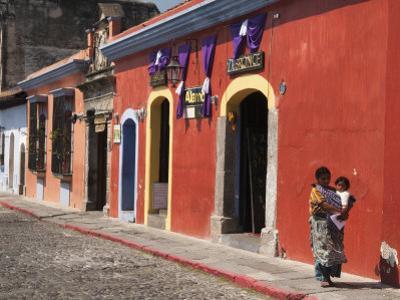 Colonial Buildings, Antigua, Guatemala, Central America