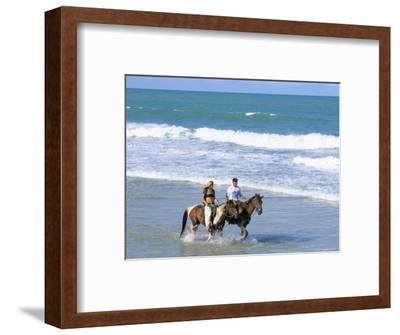 Couple Riding Horses on the Beach, Tibau Do Sul, Natal, Rio Grande Do Norte State, Brazil