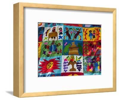 Embroidered Textile, Santiago Atitlan, Lake Atitlan, Guatemala, Central America