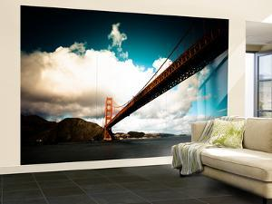 Heavy Clouds over the Golden Gate Bridge, Seen from Below by Sergio Pitamitz