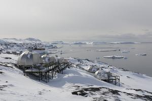 Igloos Outside the Arctic Hotel in Ilulissat, Greenland, Denmark, Polar Regions by Sergio Pitamitz