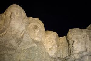 Low Angle View of Mount Rushmore at Night by Sergio Pitamitz