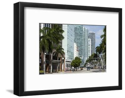 Modern Buildings Along Biscayne Boulevard, Downtown Miami, Miami, Florida, Usa