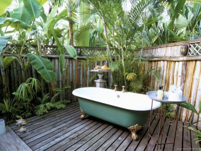 Open Air Bath at Luxury Hotel, Formerly Ian Fleming's House, Goldeneye, St. Mary