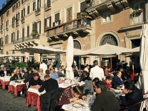 Outdoor Cafe, Piazza Navona, Rome, Lazio, Italy by Sergio Pitamitz