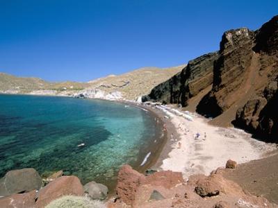 Red Beach, Akrotiri, Island of Santorini (Thira), Cyclades Islands, Aegean, Greek Islands by Sergio Pitamitz