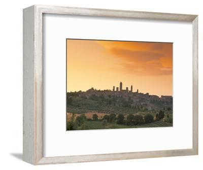 San Gimignano at Sunset, Siena Province, Tuscany, Italy, Europe
