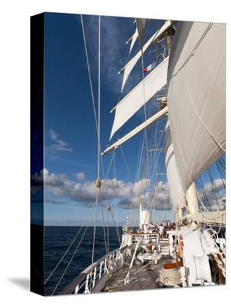 Star Clipper Sailing Cruise Ship, Deshaies, Basse-Terre, Guadeloupe, West Indies, French Caribbean