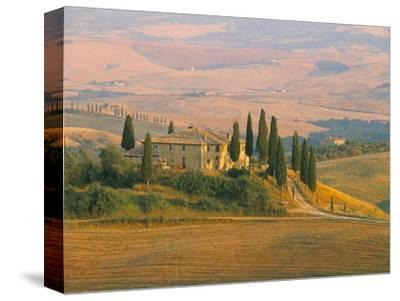 Sunset Near San Quirico D'Orcia, Val D'Orcia, Siena Province, Tuscany, Italy, Europe