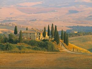 Sunset Near San Quirico D'Orcia, Val D'Orcia, Siena Province, Tuscany, Italy, Europe by Sergio Pitamitz