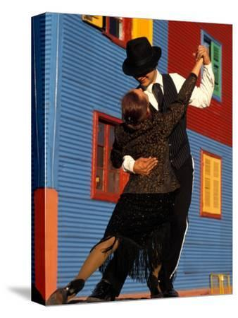 Tango Dancers on Calle Caminito, La Boca District, Buenos Aires, Argentina
