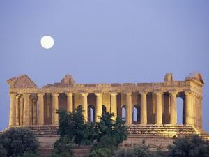 Temple of Concord Under the Moon by Sergio Pitamitz