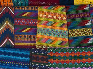 Textiles, Santiago Atitlan, Lake Atitlan, Guatemala, Central America by Sergio Pitamitz
