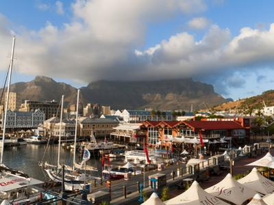 V & a Waterfront With Table Mountain in Background, Cape Town, South Africa, Africa by Sergio Pitamitz