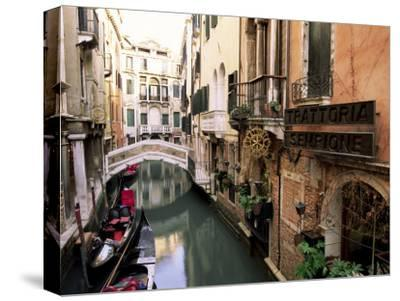 GRAND CANAL DA MULLA PALACE VENICE ITALY OLD BW Canvas art Prints