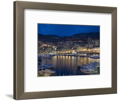 Waterfront at Night, Monte Carlo, Principality of Monaco, Cote d'Azur, Mediterranean, Europe