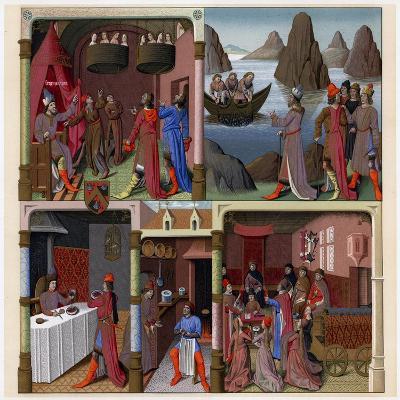 Sergius Orata and Other Romans, 1473-1480-Francois Fouquet-Giclee Print