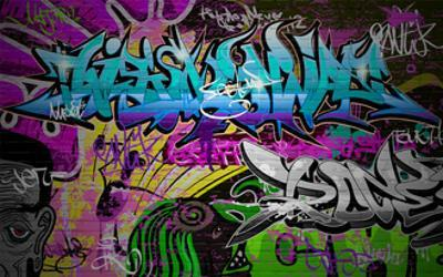 Graffiti Wall Urban Art by SergWSQ