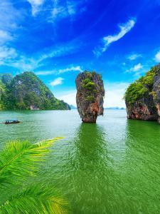 James Bond Island Thailand Travel Destination. Phang Nga Bay Archipelago by SergWSQ