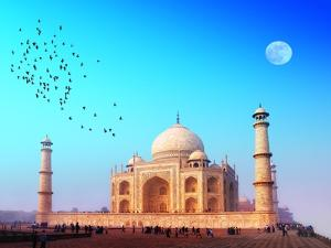 Taj Mahal Palace In India. Indian Temple Tajmahal by SergWSQ